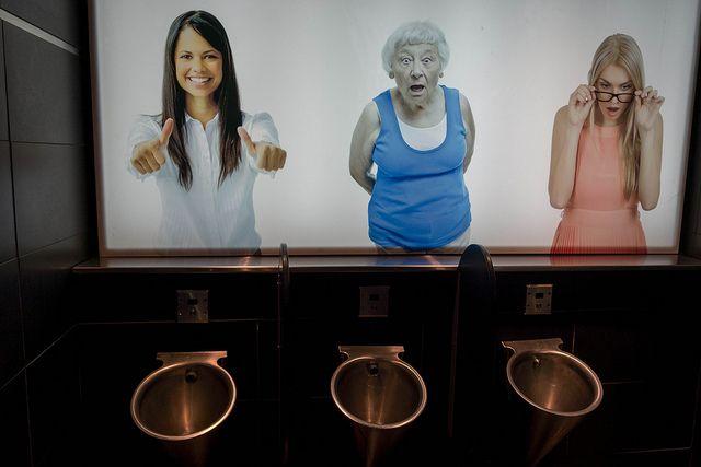 Photos Of Women Above Urinals Reacting To Men Using The Bathroom Urinal Urinals Photos Of Women