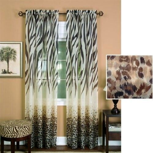 Curtains for Animal print window treatments