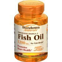 Sundown Naturals Fish Oil 1200 mg 85 Odorless Softgels Thank you to all the patrons We hope that he has gained the trust from you again the next time the service -- Check out this great product.