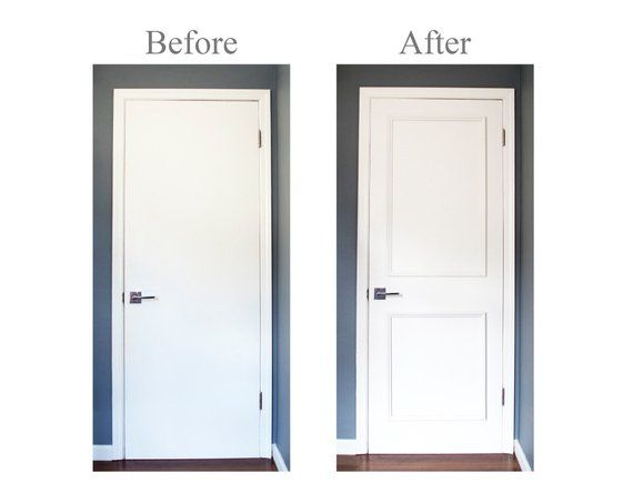 Diy Series Self Adhering Moulding Two Piece Applied Door Moulding Kit Get The Custom High End Look Quickly And Easily Door Molding Diy Molding Wall Molding