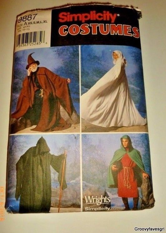 Medieval Alchemist Robe Grim Reaper Cloak Lotr Mystic Clergy Sewing