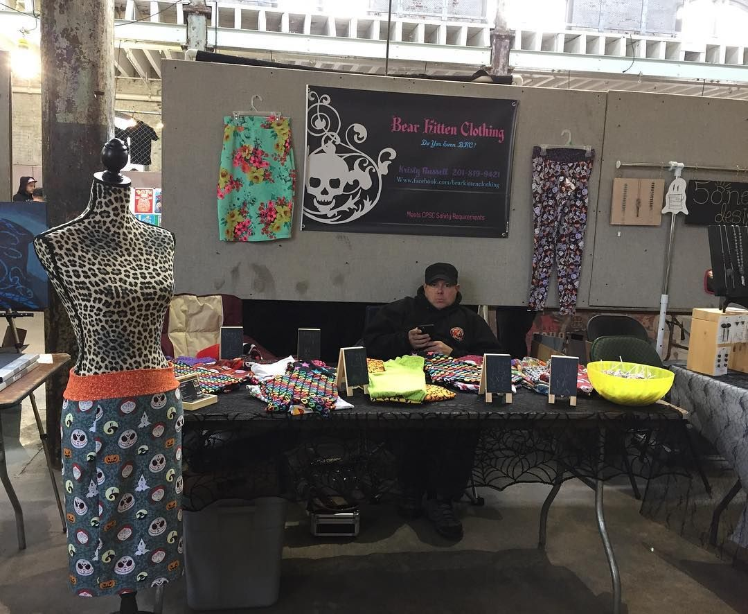 #bearkittenclothing set up yesterday at the @trentonprfm