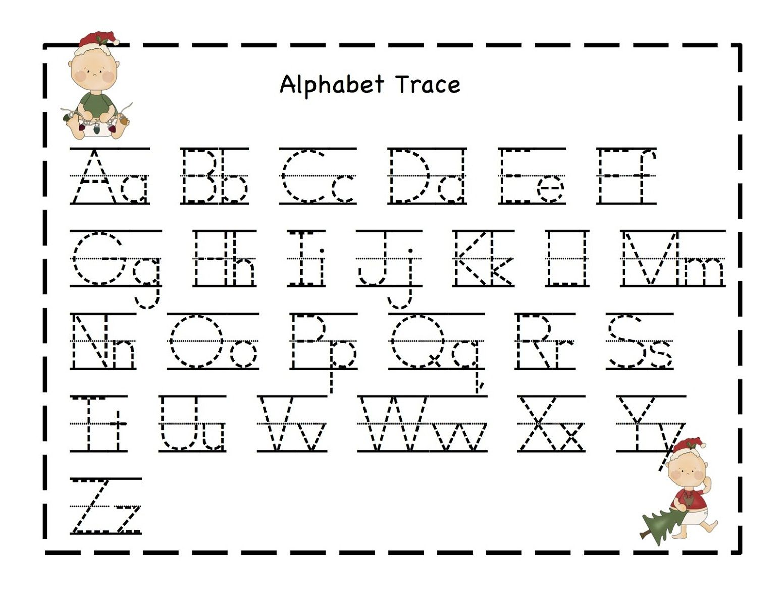 Free Alphabet Worksheets Kindergarden With Images