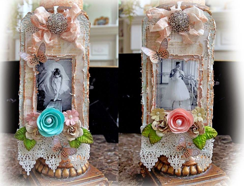 Scraps of Elegance scrapbook kit club - Renea Harrison created these