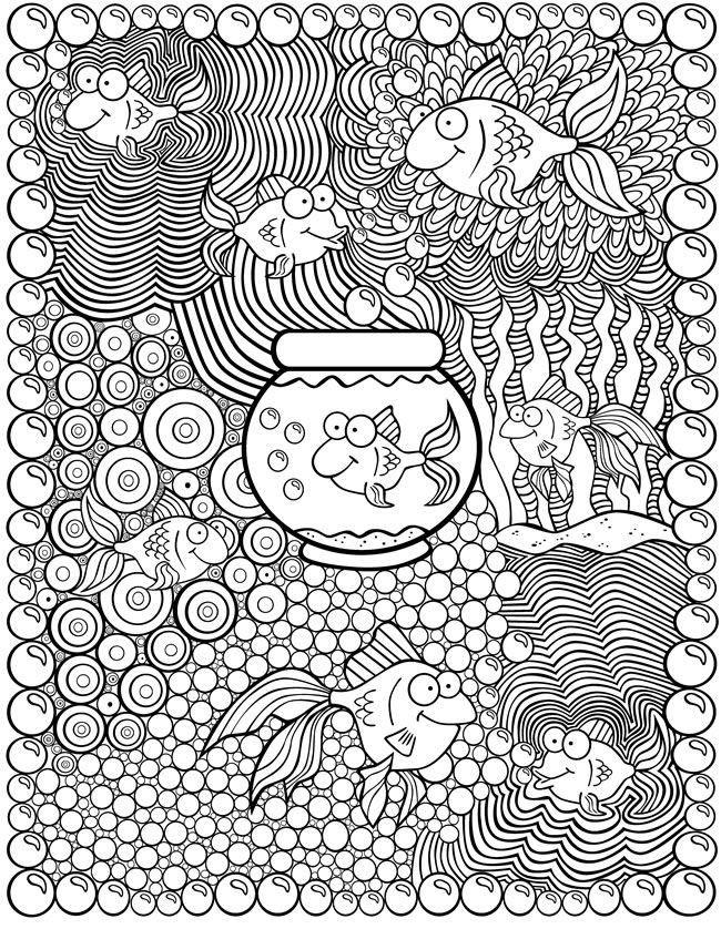 Ausmalen Erwachsene Fische Colouring Pages Ausmalen