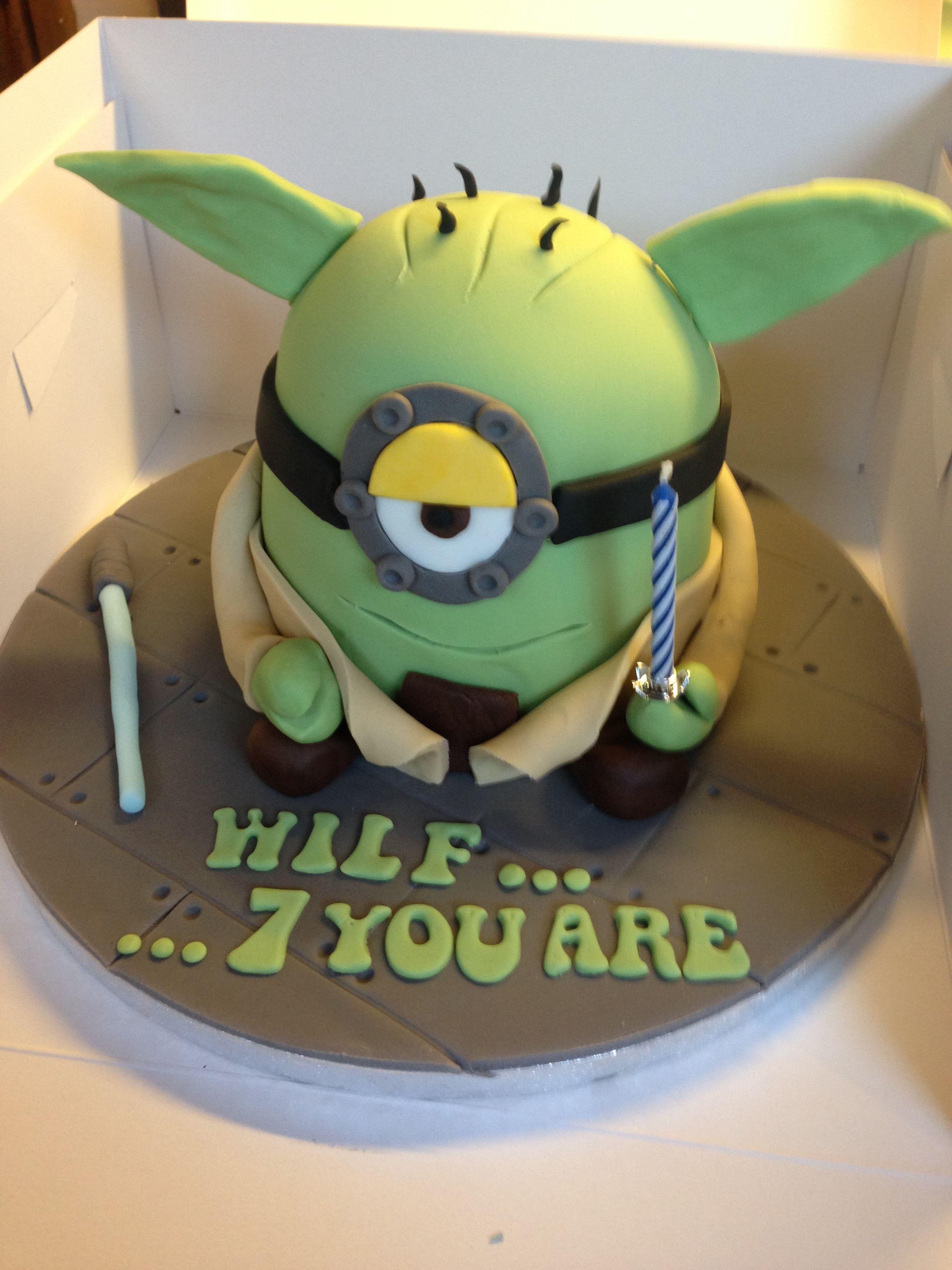 Yoda Minion Cake Star Wars My Cakes Pinterest Torten Essen