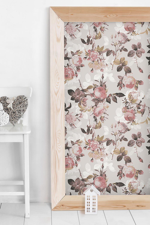 Klebefolie Vintage Blumen Muster Mit Rosen Selbstklebende Folie Vintage Blumen Klebefolie Alte Mobel