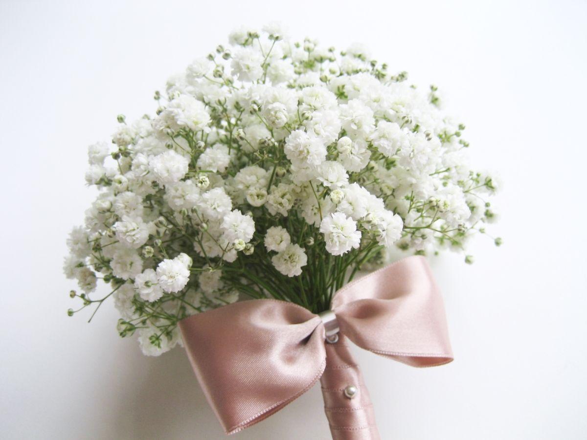 Babys Breath Gypsophila Bridal Bouquet | Adorablest