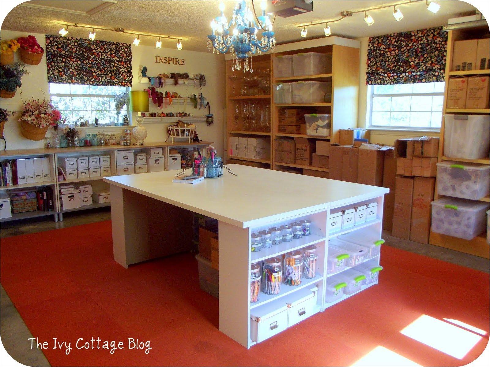 40 Creative Ways Craft Room Shelving Ideas Dream Craft Room Craft Table Diy