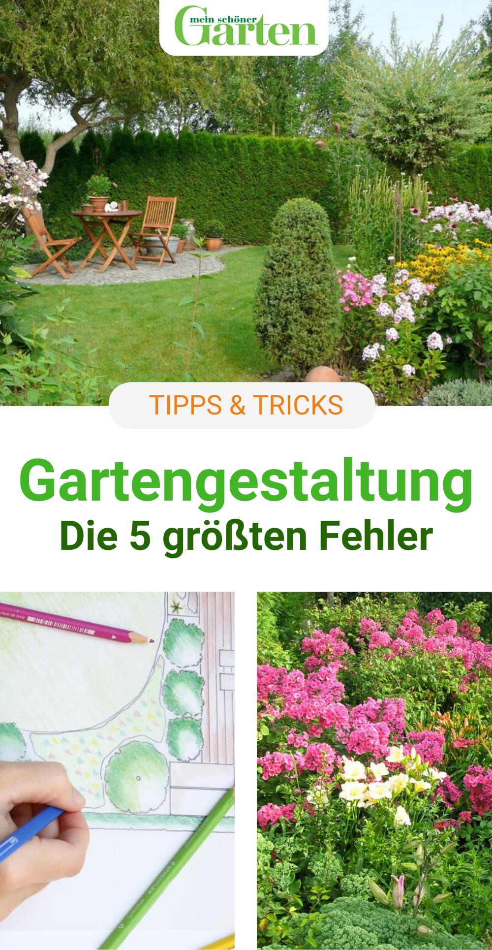 Die 5 Grossten Fehler Bei Der Gartengestaltung In 2020 Garten Ideen Gestaltung Vorgarten Garten Bepflanzen Garten