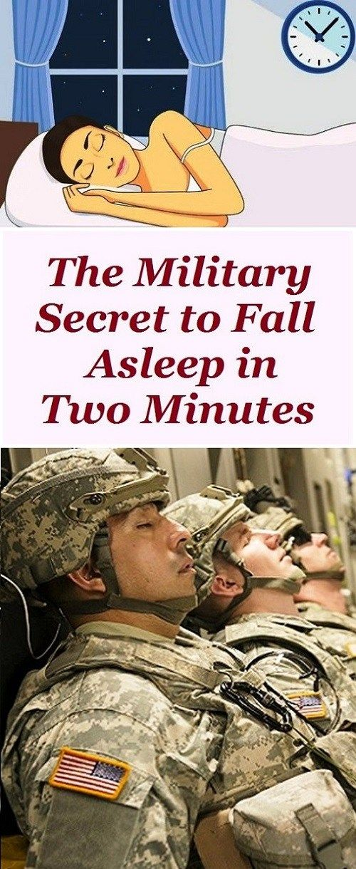 THE MILITARY SECRET TO FALL ASLEEP IN TWO MINUTES How to