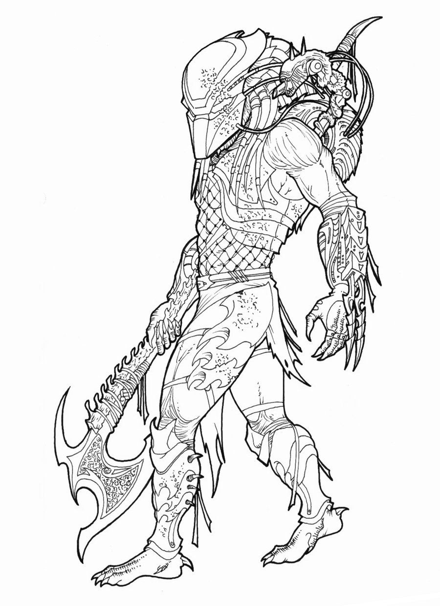 predator coloring pages Alien Vs Predator Coloring Pages 10 | Free Printable Coloring  predator coloring pages
