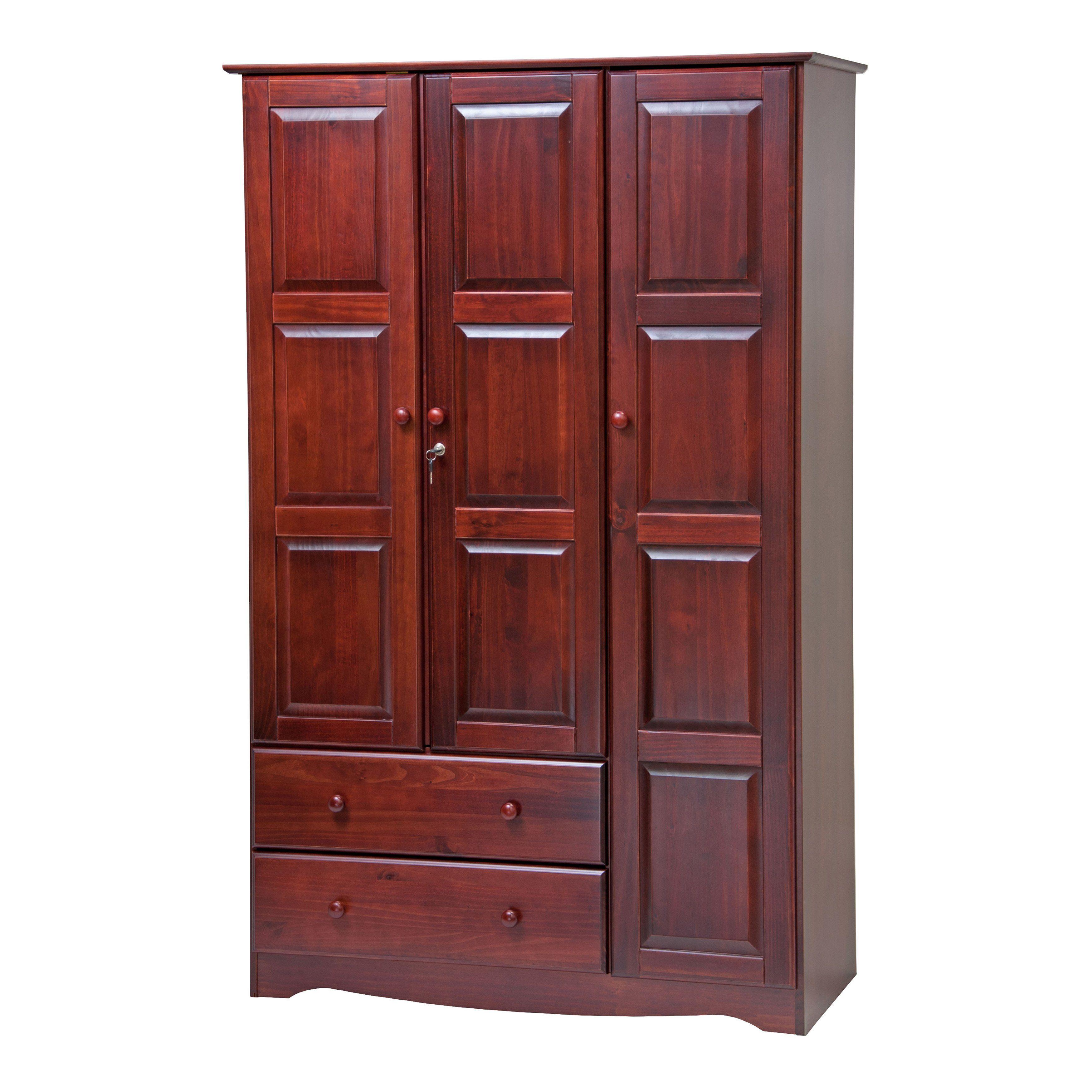 Best Copper Grove Caddo Grand Solid Wood 3 Door Wardrobe With Lock 45 75 W X 72 H X 20 75 D Solid 400 x 300