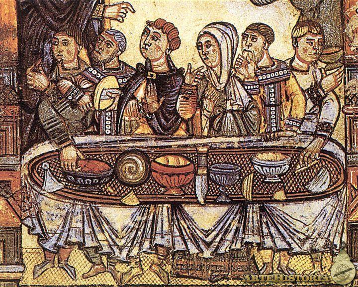 Banquete medieval Fecha: Siglo XIV.