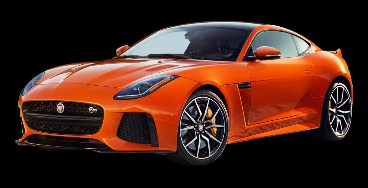 Orange Jaguar F Type Svr Coupe Car Png Image