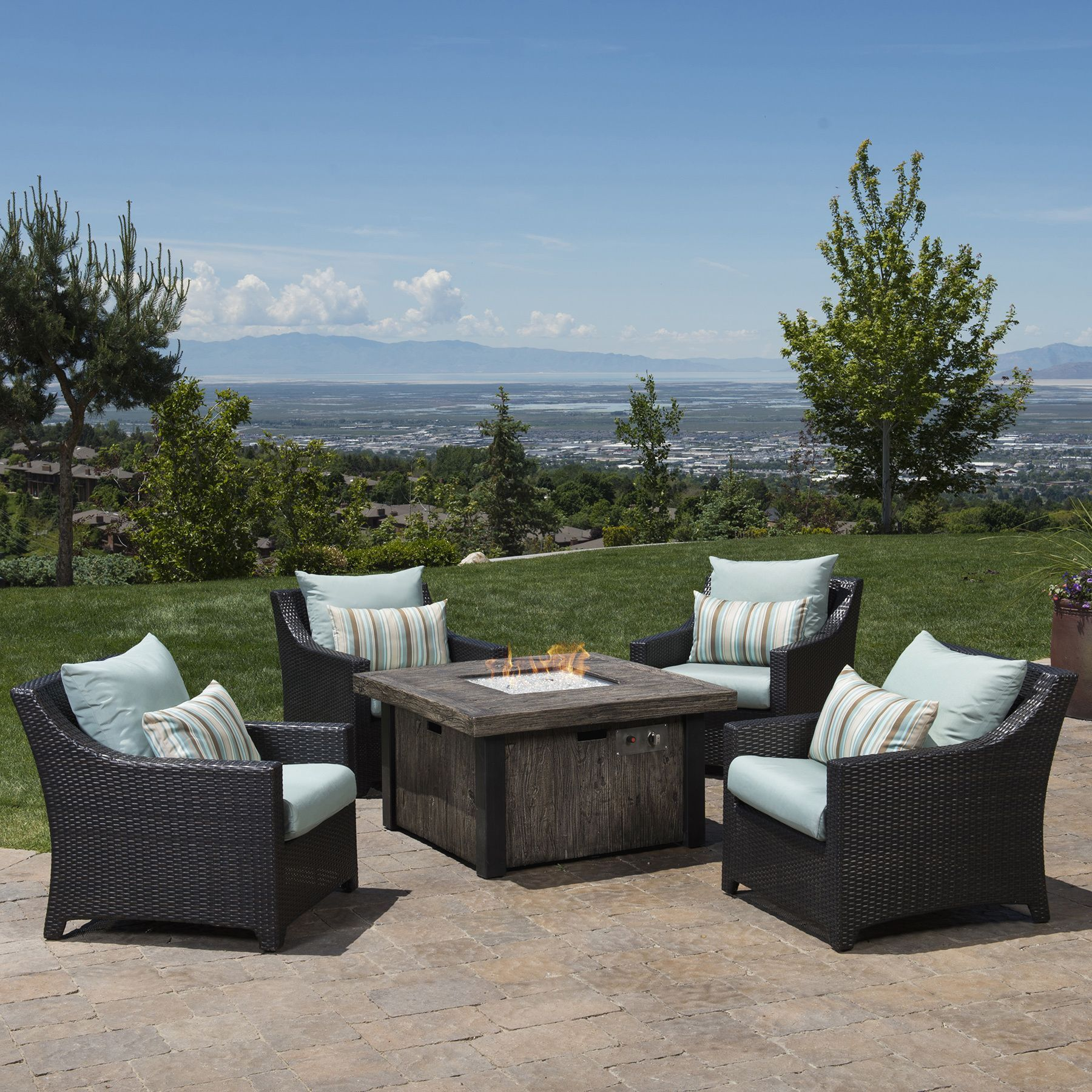 Deco 5 Piece Fire Chat Set By Rst Brands Tableclub Chairscome