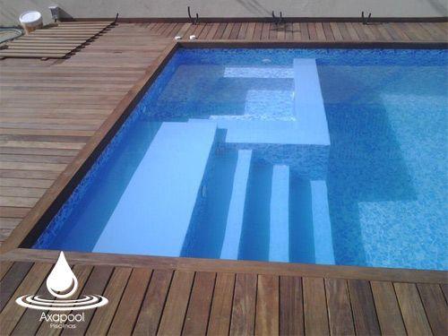 Accesorios de piscina madrid axapool escaleras interiores for Escalera piscina