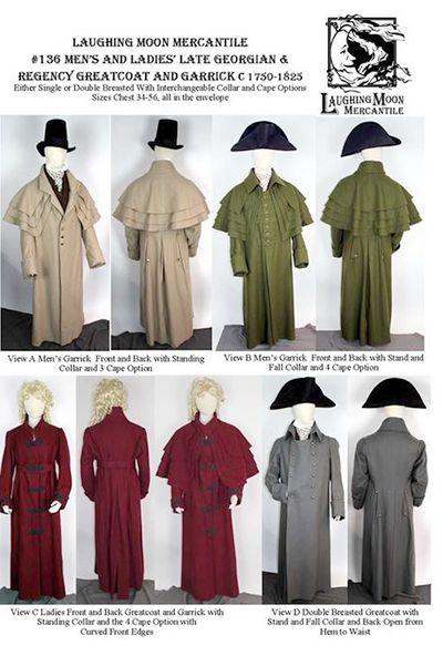 Schnittmuster: 1750-1825 Mantel | Historical fashion | Pinterest ...