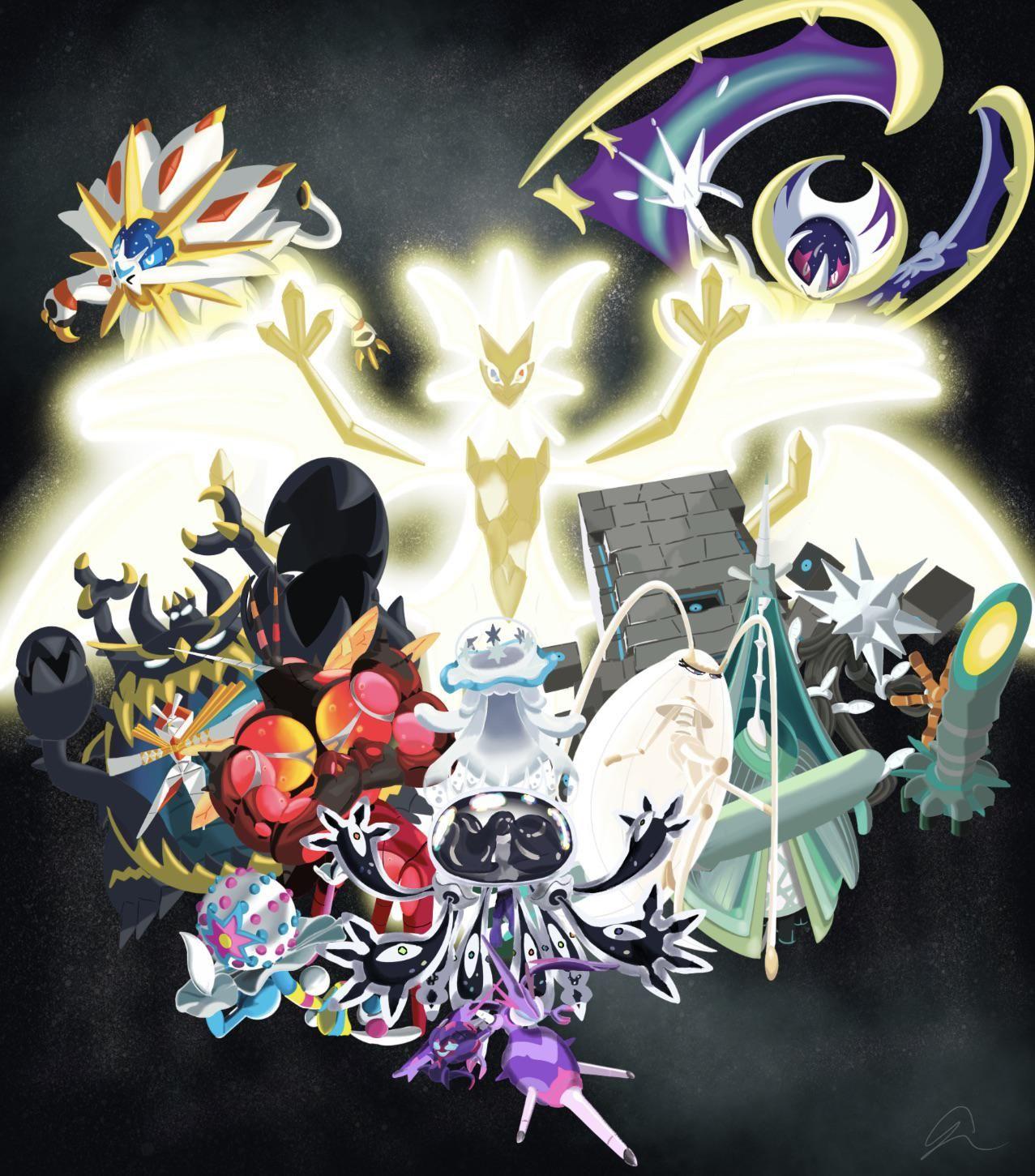 My Attempt At Drawing The Aliens Ultra Necrozma Ultra Beasts Solgaleo Lunala Https I Redd It G4wtf9c6gm531 Jpg Pokemon Eeveelutions Pokemon Pokemon Poster