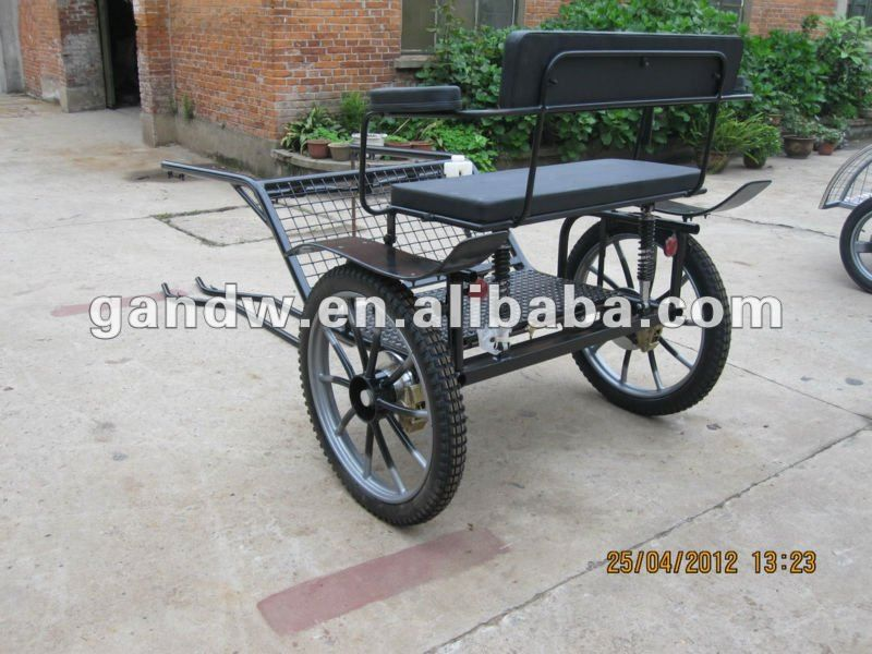 Pony cart Sulky cart/Horse carriage single axle | horses and dogs
