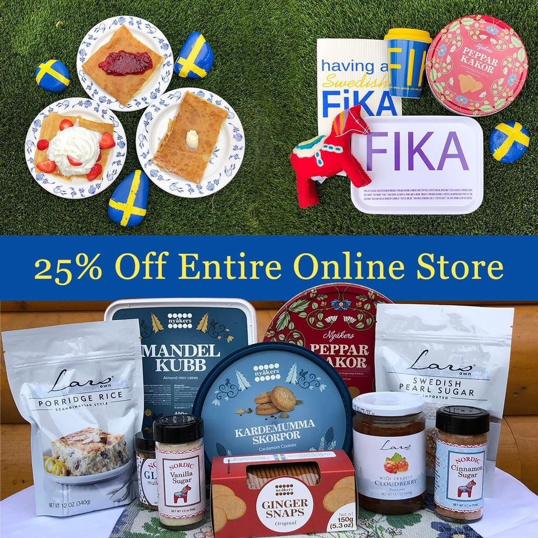 Our 25 Off Sale Is Happening Again At Our Online Store Stock Up On Swedish Pancake Mix Lingonberries And In 2021 Swedish Pancakes Johnson And Johnson Ginger Snaps