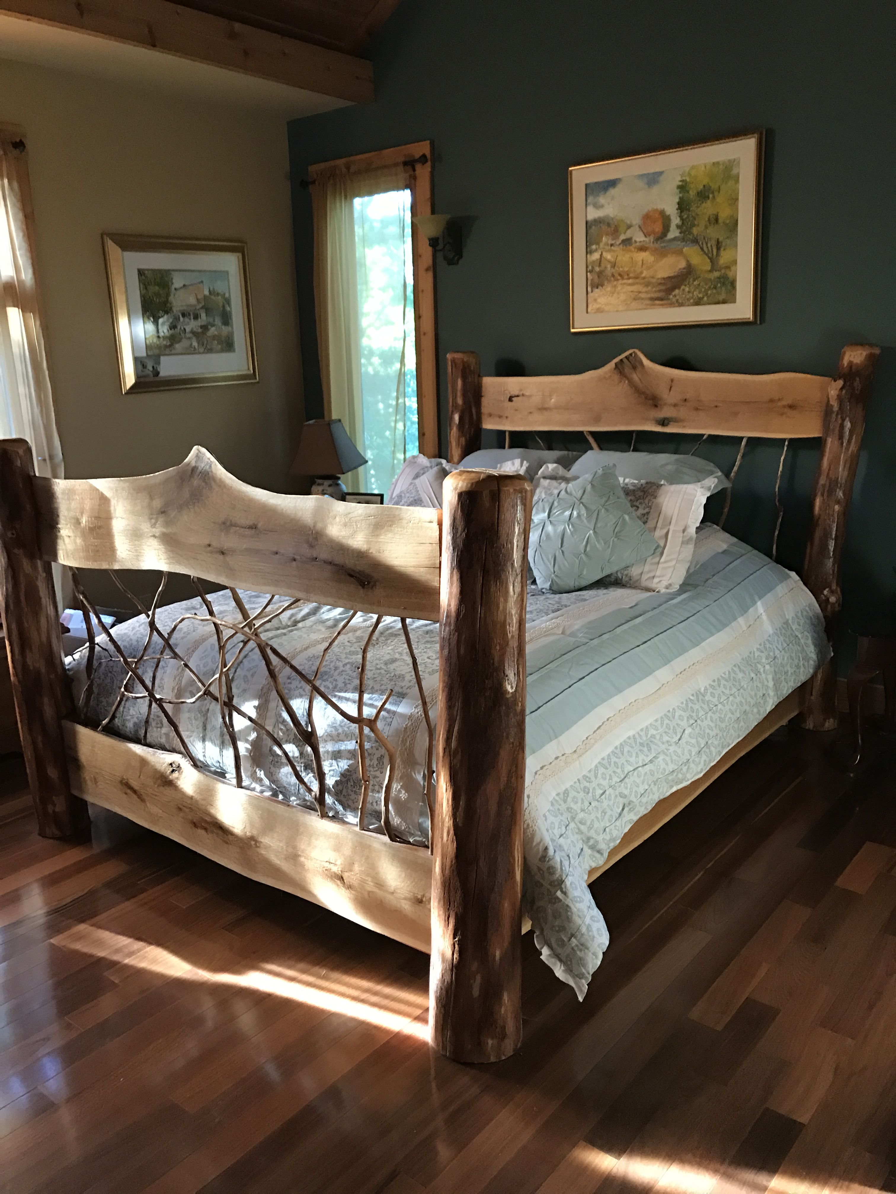 Bedding by beth bath beyond bed by drake woodworking