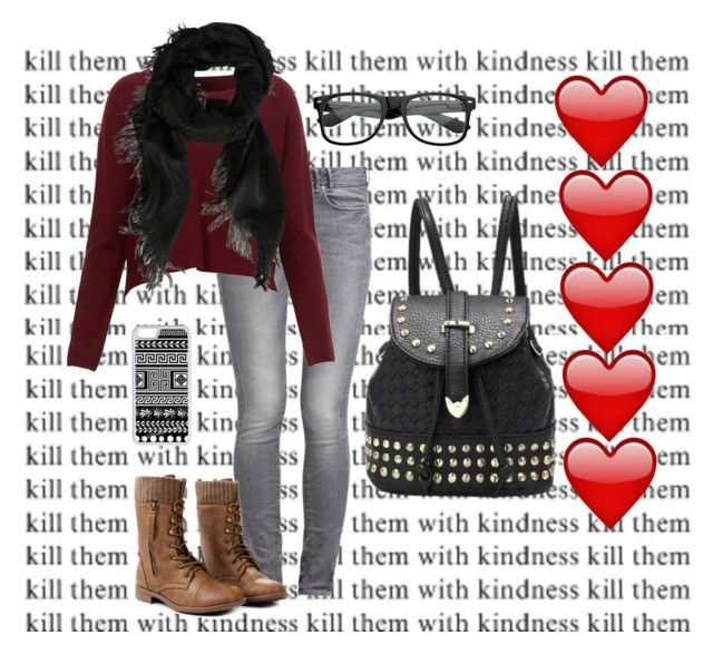 """""""Kill them with kindness"""" by laney-girl02 ❤ liked on Polyvore featuring GUESS, CellPowerCases and Gucci"""