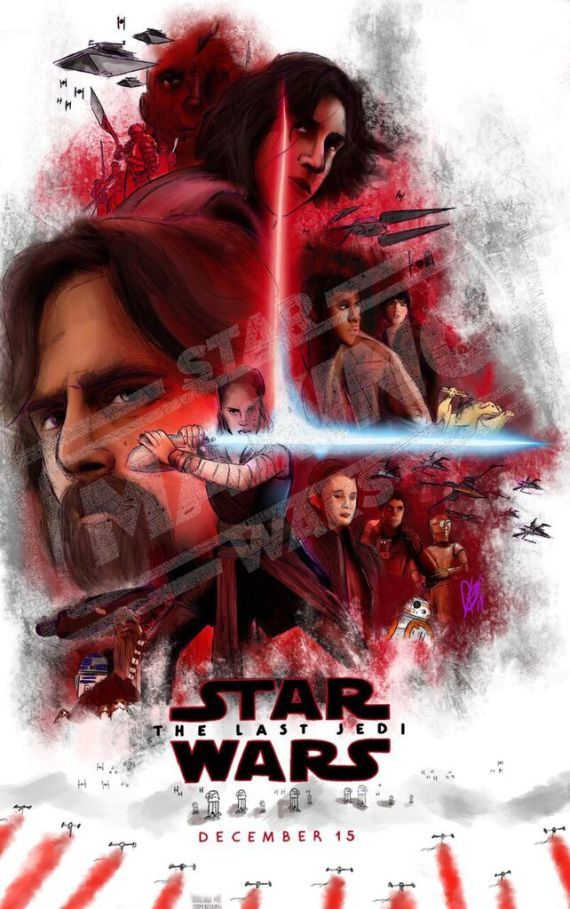 Potential Star Wars The Last Jedi Concept Poster Seems To Imply That Someone Has Turned To The Dark S Star Wars Watch Star Wars Celebration Star Wars Empire