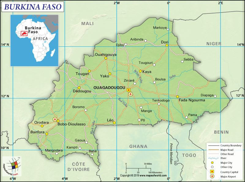 What Are The Key Facts Of Burkina Faso World Geography Country Maps Facts