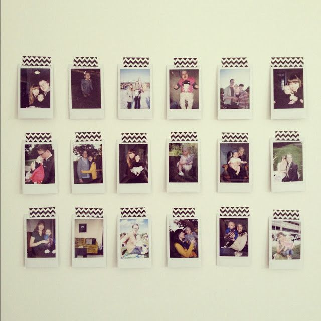 A Peek Inside My Wardrobe Washi Tape Wall Decor Polaroid