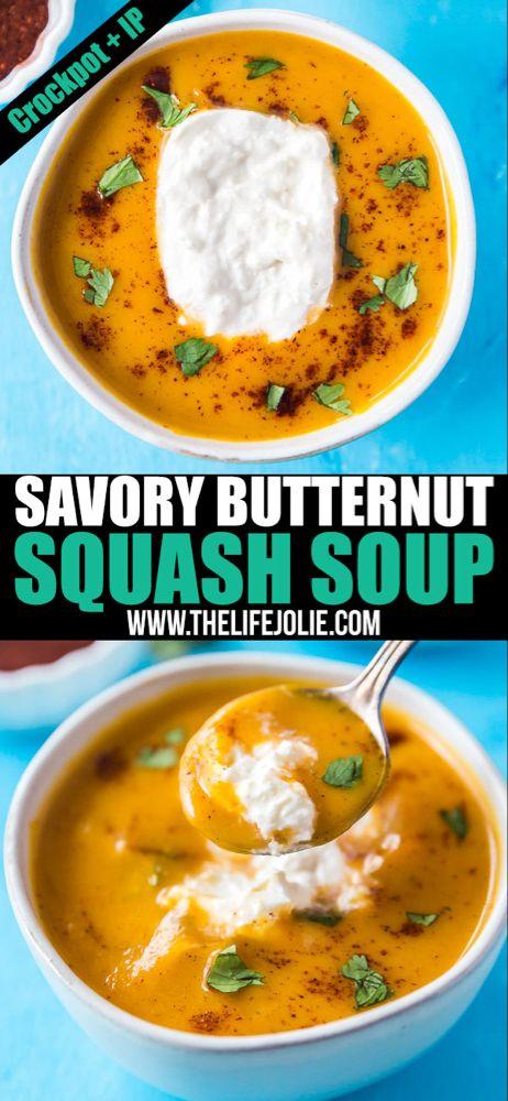 Savory Instant Pot Butternut Squash Soup