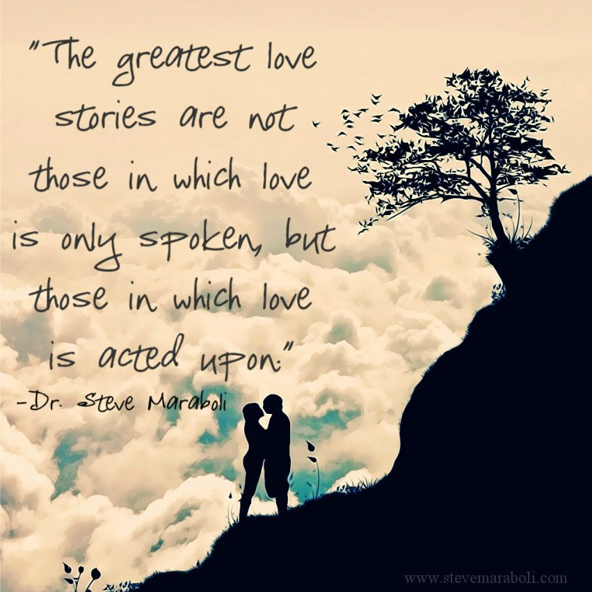 The greatest love stories are not those in which love is ...