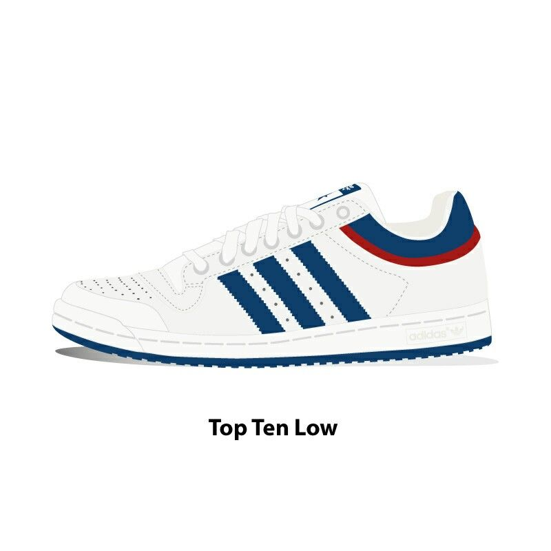 Adidas Top Ten low · Shoes VectorBasketball ...