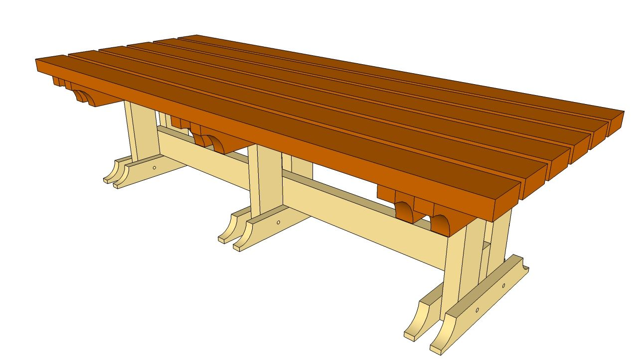 wooden outdoor furniture plans. Farmhouse Picnic Table Plan | Outdoor Bench Plans Free - DIY Shed, Wooden Furniture