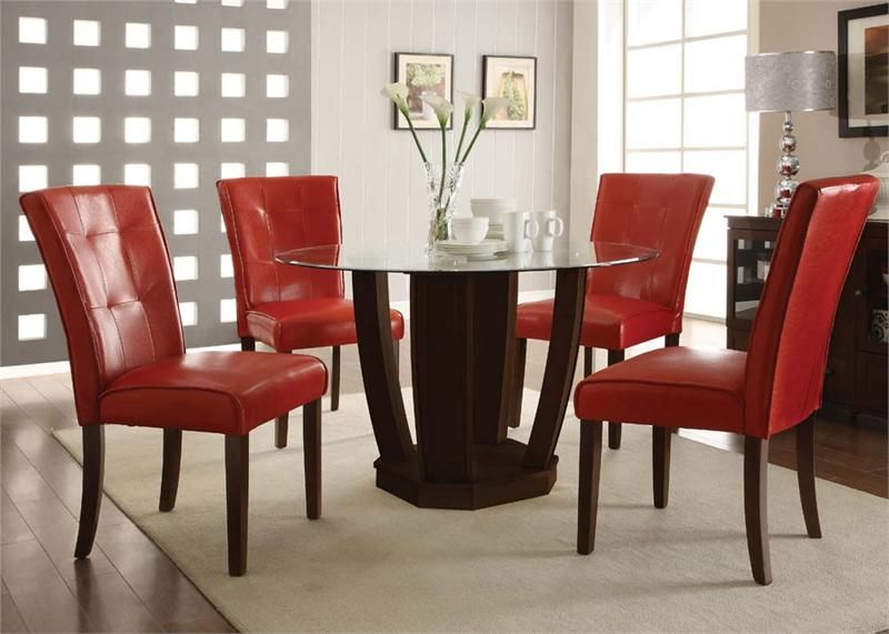 43++ Red leather dining chairs and table Best Choice