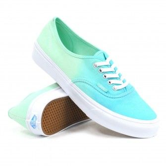 9724e192957f Vans Women s Authentic Slim (Ombre Cloisonne Icy Green) Women s Shoes  54.99