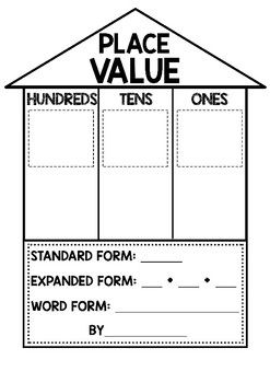 Image result for place value house template | 3rd Grade Math | Pinterest