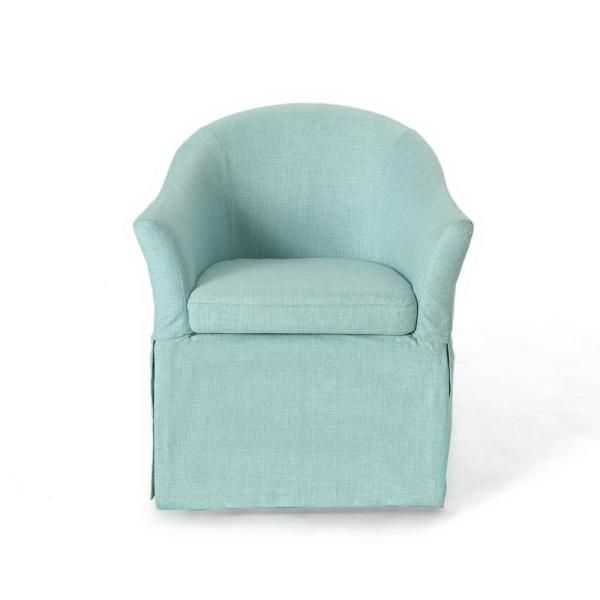 Noble House Toddman Dark Teal Fabric High Back Accent ...