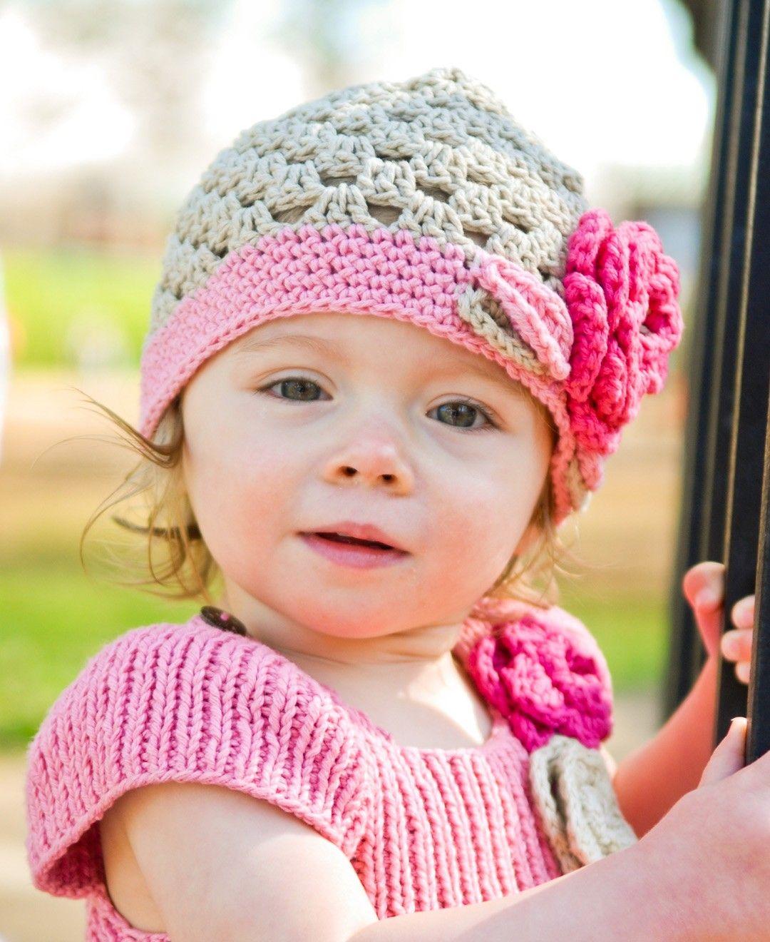 RuffleButts Baby-girls Ella Grace Sweet Beanie