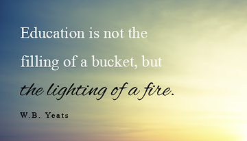 "Inspirational Quotes About Education Amusing Inspirational Quotes ""education Is Not The Filling Of A Bucket But ."