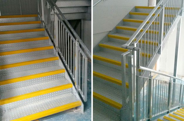 Best Anti Slip Stair Nosing Steel Staircase And Fire Exit 640 x 480