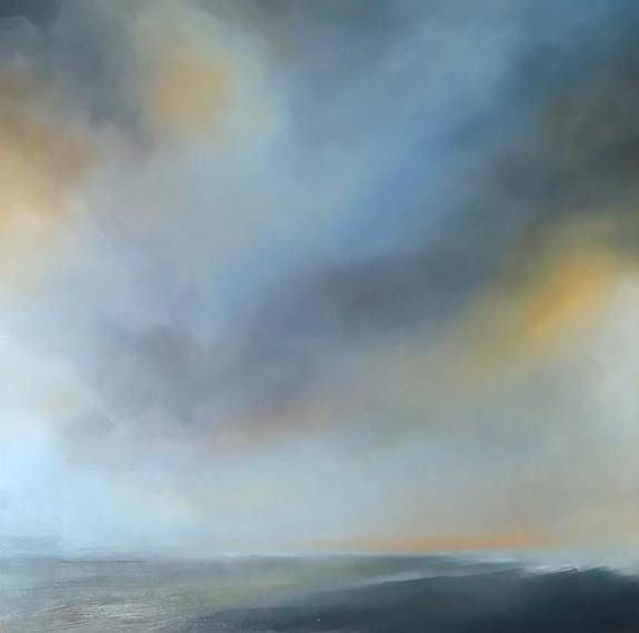 Bruised Sky by Tori Tipton - oil painting of a seascape
