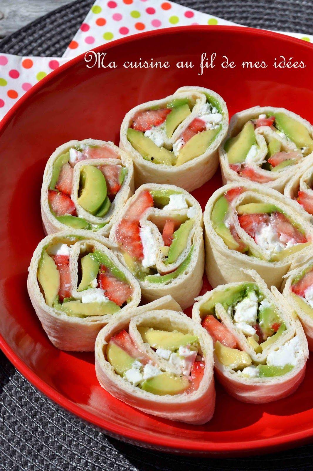 Ma Cuisine Vos Envies wraps à l'avocat, fraises et feta pour l'apéro ! | wrap