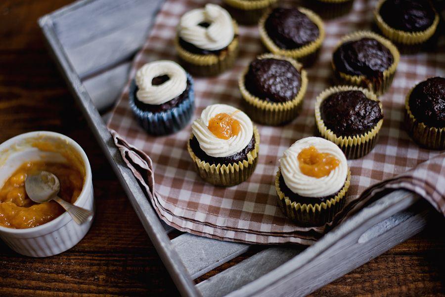 muffiny z červenej repy s čokoládou