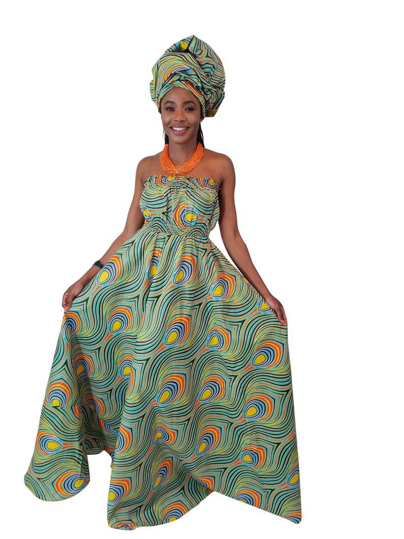 Peacocke African Print Maxi Dress, Flowy African Print Maxi Dress, Maxi Dress, African Dress, African Clothing, African Fashion, Maternity #africanprintdresses