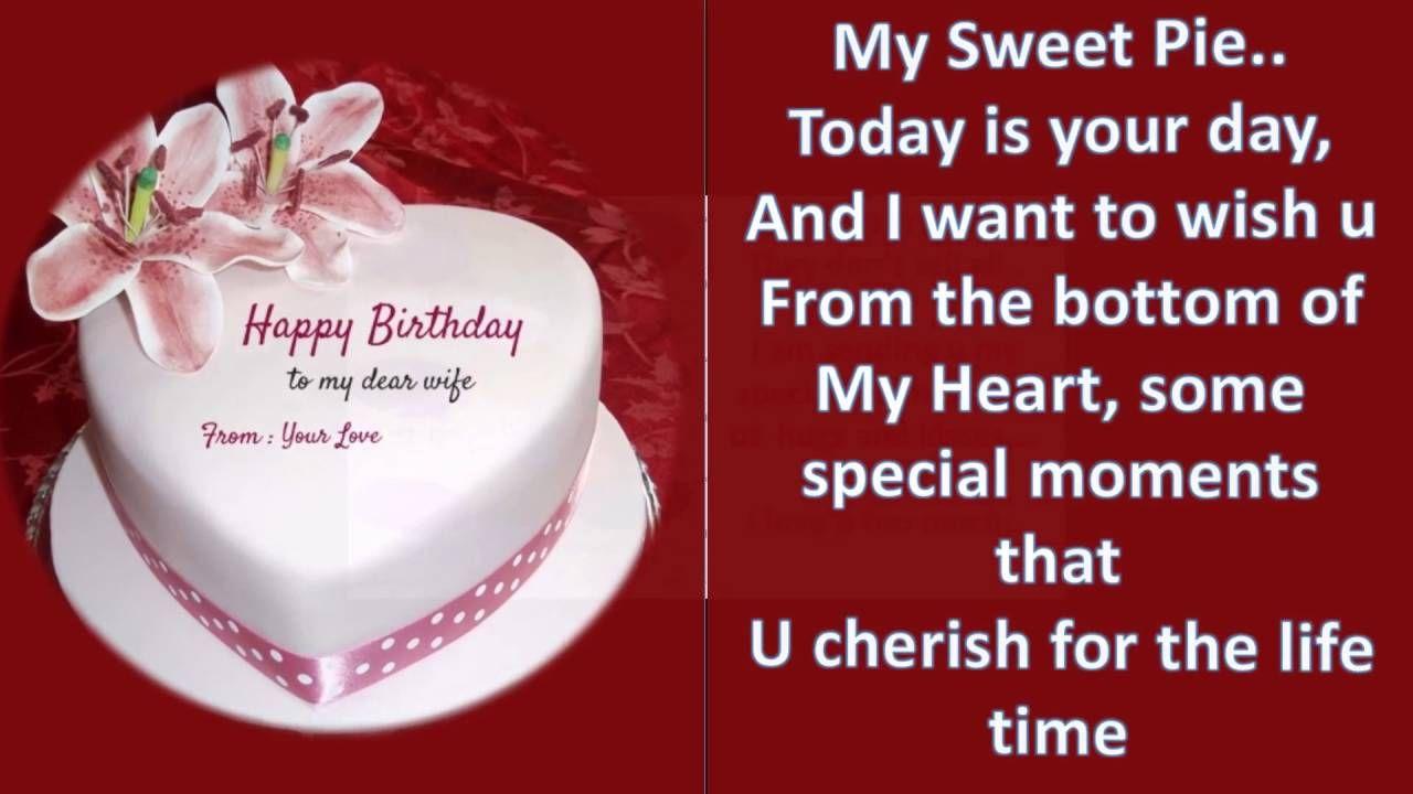 Romantic Birthday Wishes For Wife (Happy Birthday Wife