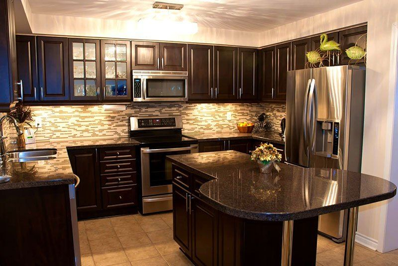 Best Black Granite Countertops (Pictures, Cost, Pros ... on Backsplash Ideas For Black Granite Countertops And Cherry Cabinets  id=85590