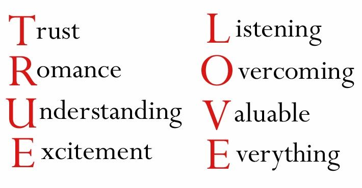 If True Love Were An Acronym What Would Each Letter Mean To You