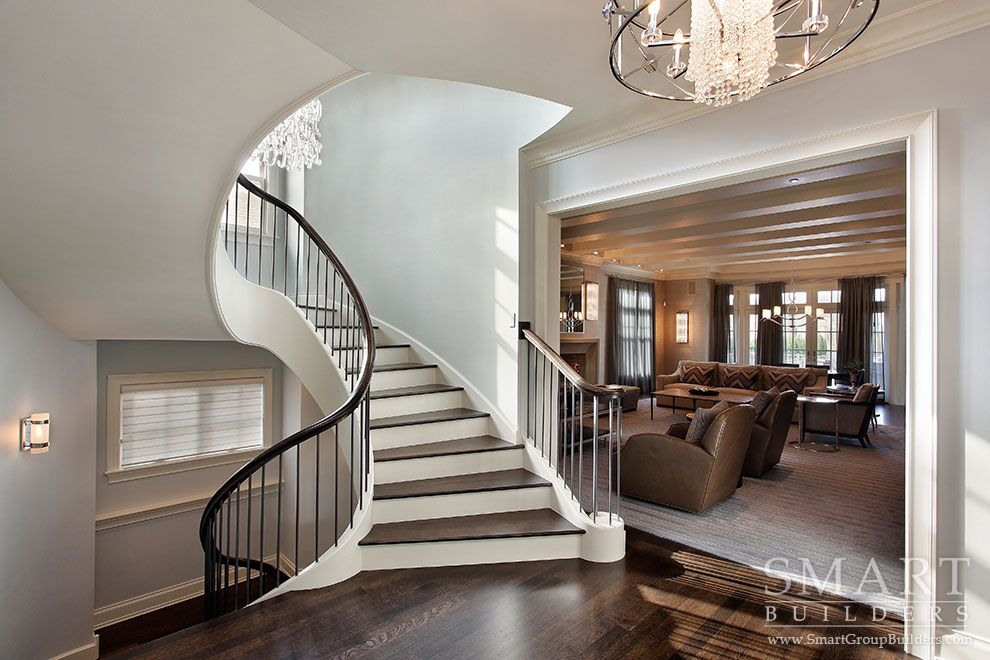 Best Distinctive Transitional Style Custom Home • Stairway 400 x 300