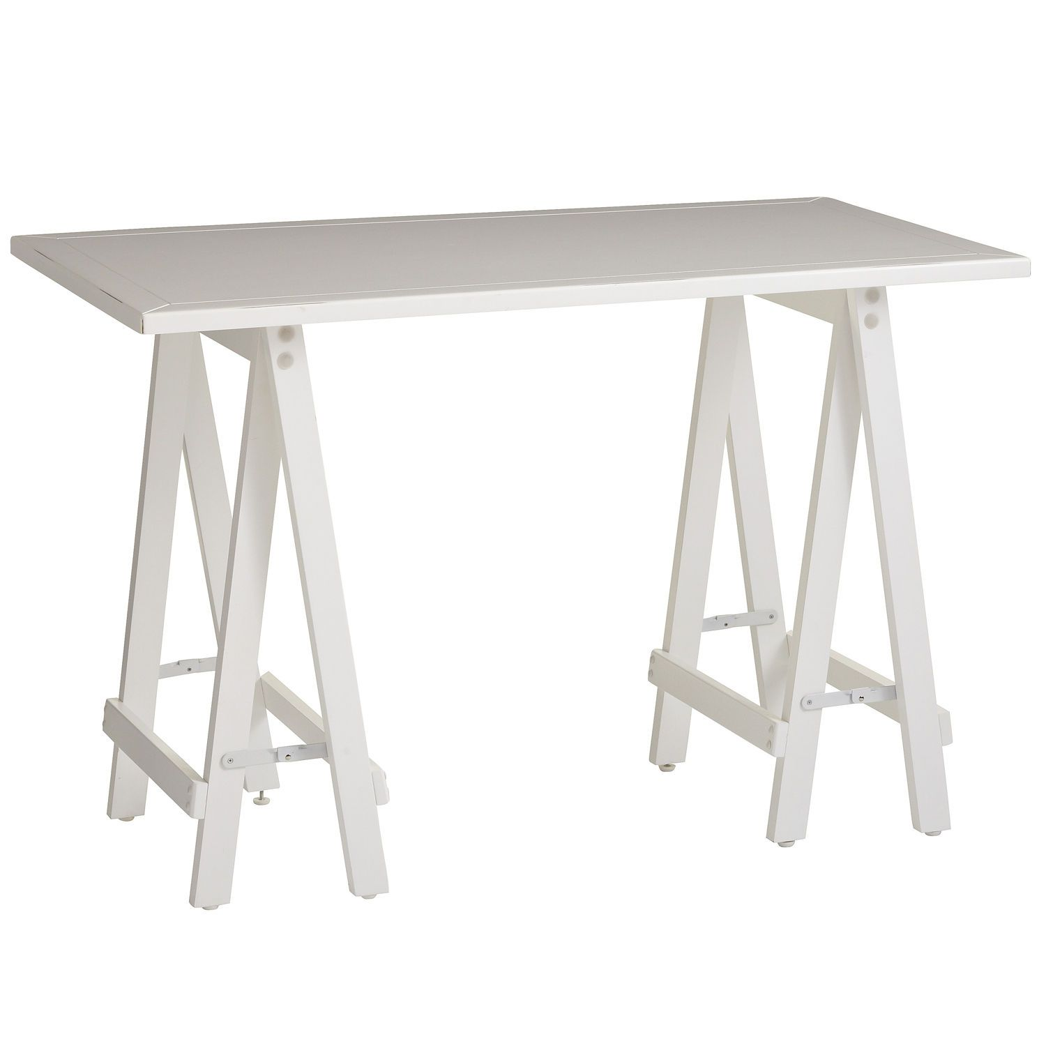 Basic Sawhorse Desk   White Pier One